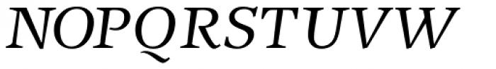 New Journal Italic Font UPPERCASE