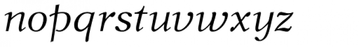 New Journal Italic Font LOWERCASE