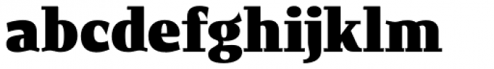 New June Serif UltraBold Font LOWERCASE