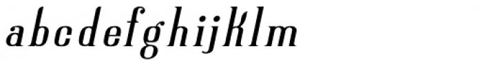 New Lanzelott Regular peak italic Font LOWERCASE