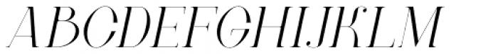 New Lanzelott Thin italic Font UPPERCASE