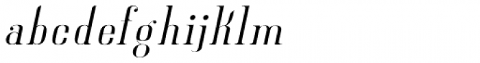 New Lanzelott Thin italic Font LOWERCASE