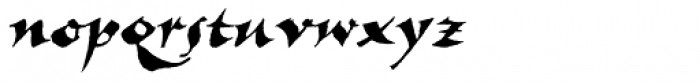 New Visigoth RXSN Italic Font LOWERCASE