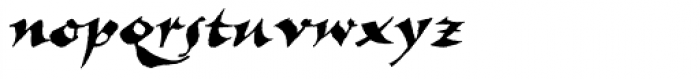 New Visigoth SXSN Italic Font LOWERCASE