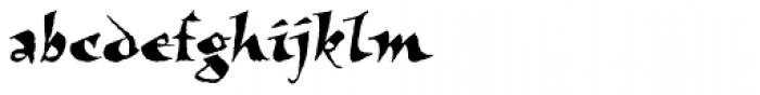New Visigoth SXSN Regular Font LOWERCASE