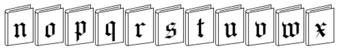 NewLibrary Font LOWERCASE
