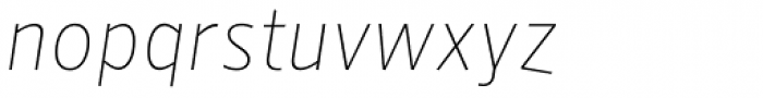 NewLibris Fine Italic Font LOWERCASE