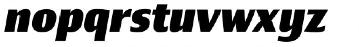 Newbery Sans Pro Extra Bold Italic Font LOWERCASE