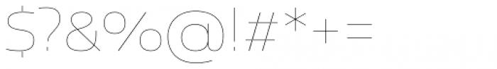 Newbery Sans Pro Xp Thin Font OTHER CHARS