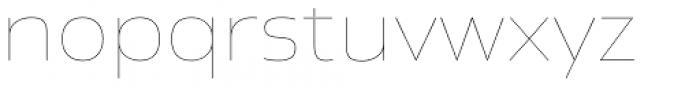 Newbery Sans Pro Xp Thin Font LOWERCASE