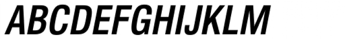Newhouse DT Condensed Bold Oblique Font UPPERCASE