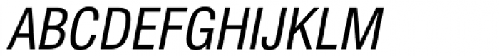Newhouse DT Condensed Oblique Font UPPERCASE