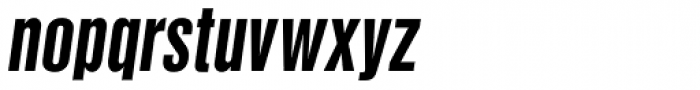 Newhouse DT SuperCondensed Bold Oblique Font LOWERCASE
