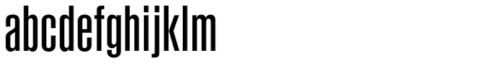 Newhouse DT SuperCondensed Font LOWERCASE