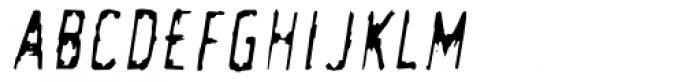 Newman Clean Oblique Font UPPERCASE