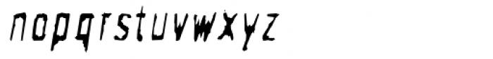 Newman Clean Oblique Font LOWERCASE
