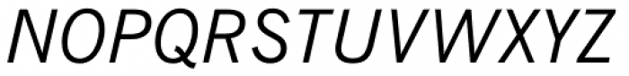 News Gothic Italic Font UPPERCASE