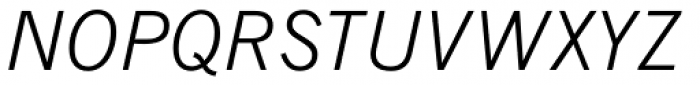News Gothic Light Italic Font UPPERCASE