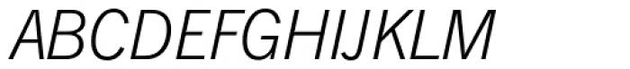 News Gothic SBVI Light Italic Font UPPERCASE