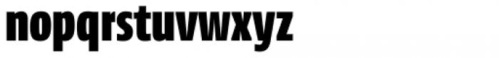 News Sans Compressed Black Comp Font LOWERCASE