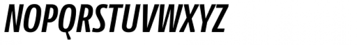 News Sans Compressed Bold Comp Italic Font UPPERCASE