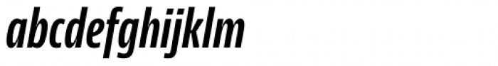 News Sans Compressed Bold Comp Italic Font LOWERCASE