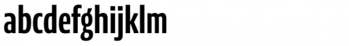 News Sans Compressed Bold Comp Font LOWERCASE