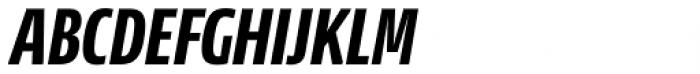 News Sans Compressed Extrabold Comp Italic Font UPPERCASE