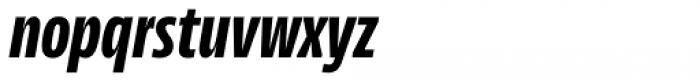 News Sans Compressed Extrabold Comp Italic Font LOWERCASE