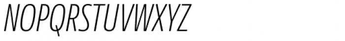 News Sans Compressed Extralight Comp Italic Font UPPERCASE
