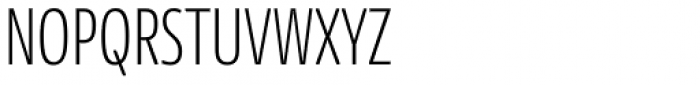 News Sans Compressed Extralight Comp Font UPPERCASE