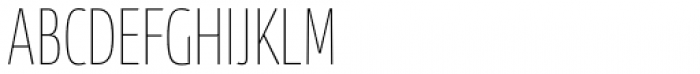 News Sans Compressed Hairline Comp Font UPPERCASE