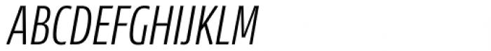 News Sans Compressed Light Comp Italic Font UPPERCASE