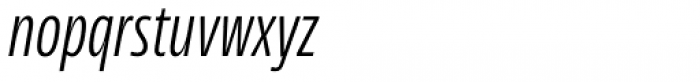 News Sans Compressed Light Comp Italic Font LOWERCASE