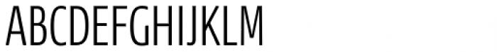 News Sans Compressed Light Comp Font UPPERCASE