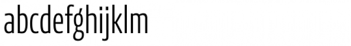 News Sans Compressed Light Comp Font LOWERCASE