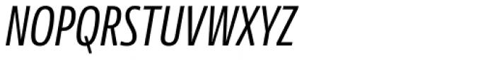 News Sans Compressed Regular Comp Italic Font UPPERCASE