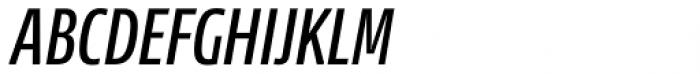 News Sans Compressed Semibold Comp Italic Font UPPERCASE