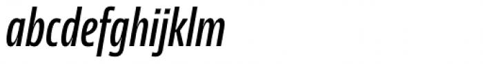 News Sans Compressed Semibold Comp Italic Font LOWERCASE