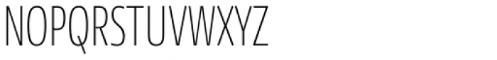 News Sans Compressed Thin Comp Font UPPERCASE