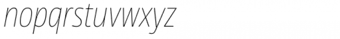 News Sans Condensed Hairline Condensed Italic Font LOWERCASE