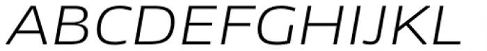 News Sans Extended Light Italic Font UPPERCASE
