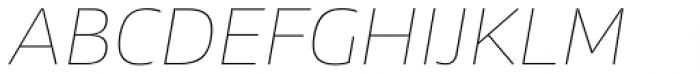 News Sans Wide Hairline Italic Font UPPERCASE