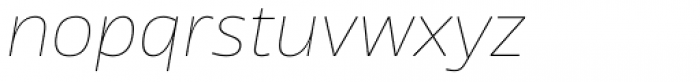 News Sans Wide Hairline Italic Font LOWERCASE