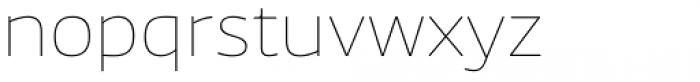 News Sans Wide Hairline Font LOWERCASE