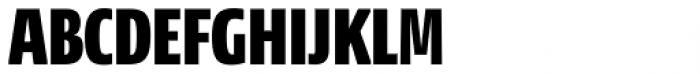 NewsSans Compressed Black Font UPPERCASE