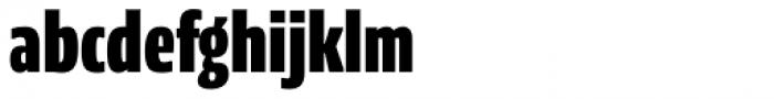 NewsSans Compressed Black Font LOWERCASE