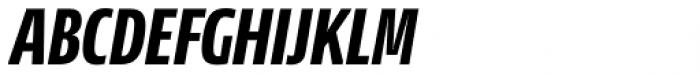 NewsSans Compressed ExtraBold Italic Font UPPERCASE