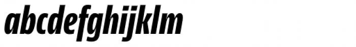 NewsSans Compressed ExtraBold Italic Font LOWERCASE