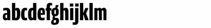 NewsSans Compressed ExtraBold Font LOWERCASE